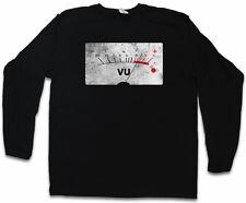 VU VOLUME UNITS METER II LANGARM T-SHIRT Velvet Decibel Music Bass Retro Symbol