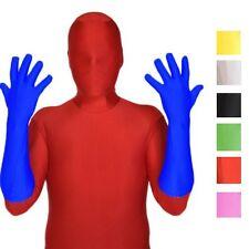 Lycra Spadex Zentai Elbow Gloves Costume Halloween Party Superhero Size XS-XL