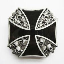 Men Belt Buckle Iron Cross Skull Belt Buckle Gurtelschnalle also Stock in US