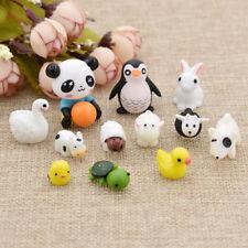 1Set Lovely Miniature Animals Cow Duck Home Gardon Dollhouse Ornament Decoration