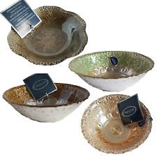 Azzurra Handmade Decorated Glass Dish - 100% Silver Gilt Made in Turkey