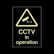 CCTV Photoluminescent plastica segno / Adesivo, tutte le taglie, sicurezza, Fotocamera (MISC11)