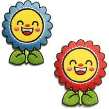 Toppe termoadesive - fiore - diversi colori selezionabili - 6 x 7.4cm - Patch To
