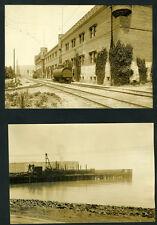 Three Large 1920 Photos of Richmond CA Lg Smokestacks, Old Truck, Piers, Etc (4)