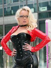 Lackbolero verni veste bolero rouge brillant vinyl taille 32 - 58 xs-xxxl