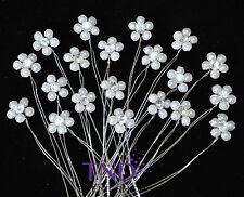20-PACK PEARL & RHINESTONE FLOWER BOUQUET PICKS