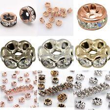 20-40 Metallperlen Spacer Zwischenperlen Strass Rhinestone rosegold gold silber