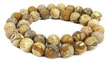 😏 Landschaftsjaspis mattierte Kugeln 8 & 10 mm Jaspis Perlen Strang beads 😉