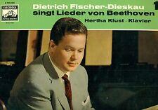 """DIETRICH FISCHER-DIESKAU SINGT CANCIONES DE BEETHOVEN 1 HERTHA KLUST 12"""" LP"""