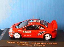 PEUGEOT 307 WRC #16 3RD MONTE CARLO 2006 GARDEMEISTER HONKANEN IXO RAM211 1/43