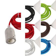 diseño Lámpara Colgante Iluminación Cable textil VARIOS COLORES
