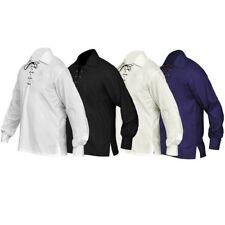 New Scottish Jacobite Ghillie Kilt Shirt Men's Sizes Small To 5XL
