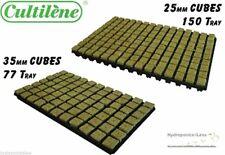 Hydroponics Cutting Cubes Tray 77 or 150 Rockwool Cultilene Propagation 25/35mm