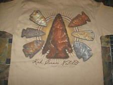 Indian artifact arrowhead kirk corner notch spear point t shirt