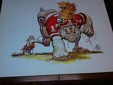 Georgia Bulldogs Football 1983 Jack Davis artwork print UGA