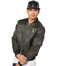 Mens Jacket Tokyo Laundry Military Coat Padded Baseball MA1 Harrington Lined New