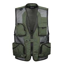Men Sleeveless Gilet Pockets Vest Waistcoat Jacket Mesh Outdoor Fishing Hunting