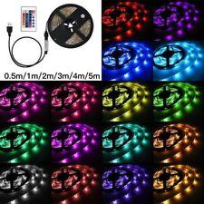 1M 2M 3M 4M 5M 5050 USB RGB Fairy Light LED Strip Light Bar TV Back Lighting Kit