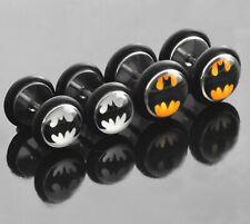 Ear Stud Earring Batman Superhero Earring Fake Tunnel O Seal Surgical Steel 18g