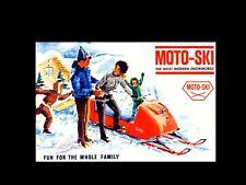 MOTOSKI MOTO SKI 1965-1973 SNOWMOBILE PART MANUALs 1966 1967 1968 1969 1970 1971