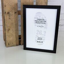 Running résultat Personnalisé Certificat Affiche Encadrée | Marathon Runner Cadeau