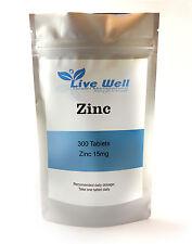 Zinc Citrate 15mg comprimés 100% RDA pour Acné.... Various Quantités disponible