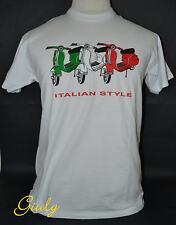 T-shirt Vespa ITALIA maglia simpatica tricolore IDEA REGALO maglietta UOMO-DONNA