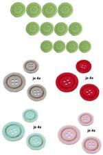 12 FILZKNÖPFE DEKO KNÖPFE rund gestanzt HOBBYFUN 3 verschiedene Durchmesser FILZ
