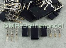 10 - 100 Paar Graupner / JR Servostecker - Stecker + Buchse vergoldet Crimp Set