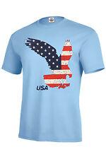 Flag Eagle T-Shirt Pride Patriotic Assorted Colors Kids & Adult XS2-4KIDS TO 5XL