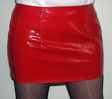 New red shiny pvc mini skirt all sizes 12 inch length