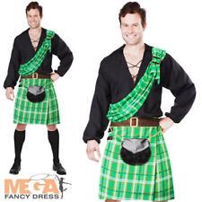 Scotsman Kilts Man Fancy Dress Mens Scottish National Dress Adult Costume Outfit
