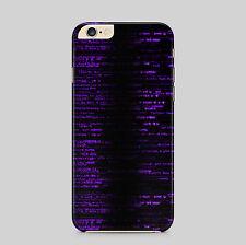 Purple Matrix Midnight Hacker Phone Case for IPhone HTC Samsung Sony LG Huawei