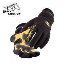 Black Stallion FuzzyHand Max2 Waterproof Polar Fleece and Grain Pigskin Gloves