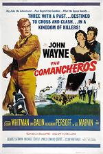The Comancheros (1961) John Wayne movie poster print