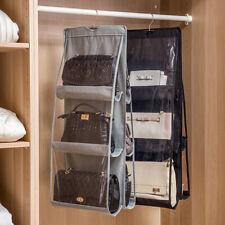 6 Pocket Bag Handbag Storage Holder Organizer Wardrobe Rack Hook Bag Hanging