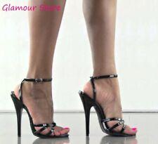 Sexy SANDALI DOMINA tacco 15 dal 35 al 46 in 7 COLORI cinturino scarpe GLAMOUR