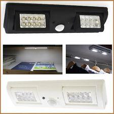 Sensore Di Movimento Luci 16 LED ARMADIO Nero Bianco Dual mobili banche PIR 1Mtr NUOVO
