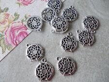 20 x Web Circles, Dreamcatcher, Tibetan Silver Metal Pendant Charms,Spiderweb