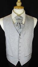 WC027 Mens Grey Pattern Wedding Evening Formal Suit Waistcoat