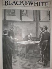 Rey Eduardo VII signos visitantes libro la catedral de San Patricio Dublín Irlanda 1903
