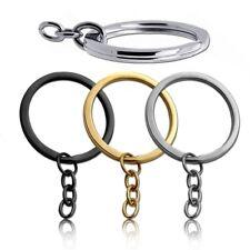Schlüsselringe Schlüsselanhänger Verbindungskette Silbern Golden Schwarz Ring