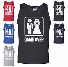 Game Over Tank Top Funny Groom Bride Bachelor Wedding Gift Husband Wife Gym New