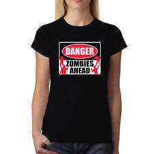 Danger Zombie Mort Vivant Signe Horreur Femme T-shirt S-3XL Nouveauté