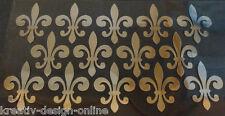 14 Hotfix Bügelpailletten  franz. Lilien große Farbwahl