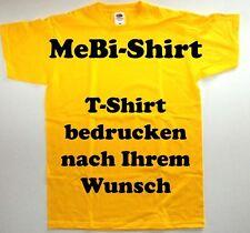 T-Shirt drucken mit Ihrem Wunschtext, Logo, Bild, Firmen, Sprüche....,