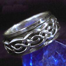 Spinning Ring 925 Silber Moving Wikinger Viking Knotwork LARP 5