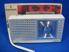 Vintage 60´s design Siemens Cordly RK 20 transistor radio + box + manual
