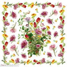 Feuille en papier de riz/Fleurs/Tulipes/Stamperia/049