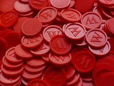 Wertmarken, Pfandmarken, Getränkemarken, -W- Mengen wählbar | Farbe: Rot